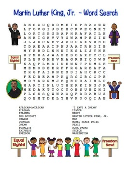 graphic relating to Martin Luther King Word Search Printable named MLK Martin Luther King, Jr. Phrase Glance Maze! Very simple Place! (shade and black line)
