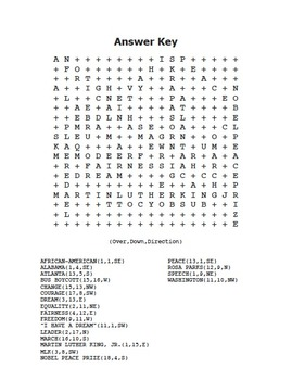 MLK Martin Luther King, Jr. Word Search Maze! Easy Level! (color and black line)