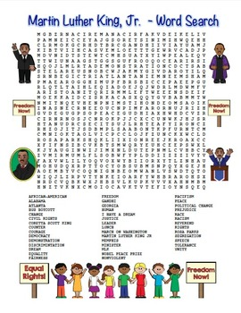 mlk martin luther king jr word search maze hard level color