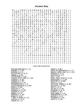 MLK Martin Luther King, Jr. Word Search Maze! Hard Level! (color  & black line)