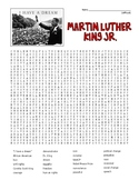 MLK ML King Jr. Word Search and Coloring - DIFFICULT  (could use in SUB PLAN?)