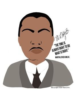 MLK Martin Luther King Jr Poster