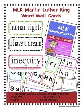 MLK Martin Luther King Word Wall Cards