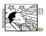 MLK Math - Fraction Subtraction coloring page