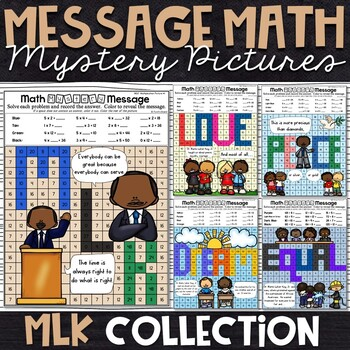 MLK Math Activity | MLK Color by Number