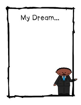 MLK My Dream Writing Stationary