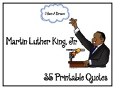 Martin Luther King, Jr. Quotes for BB, writing, literacy, ELA and discussion