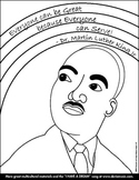 """MLK Rainbow"" Coloring Page for Younger Children"