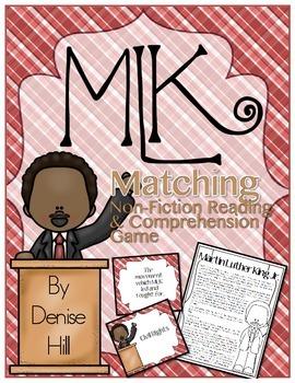 MLK Reading Comprehension & Matching Game