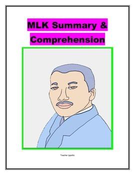 MLK Summary and Comprehension