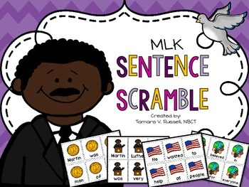 MLK Themed Sentence Scramble {FREEBIE}