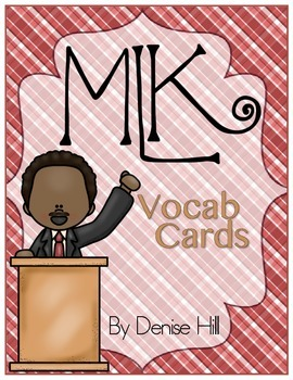 MLK Vocabulary Cards