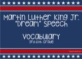"MLK Vocabulary from ""Dream"" Speech 3rd-6th Grade"