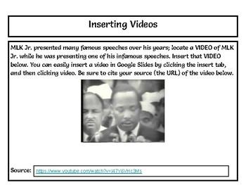 MLK Webquest - Using Google Slides - NO PREP