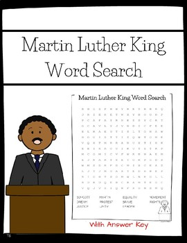 Mlk Word Search Freebie By Miss R S Place Teachers Pay Teachers