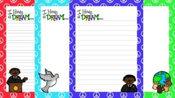 MLK Writing Papers - 3 Styles - ( 7 1/2 x 10 )