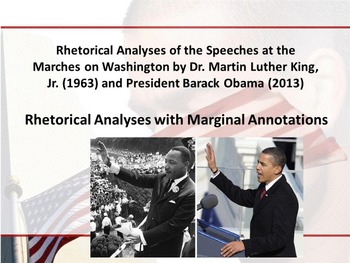 MLK and Obama's March on Washington Speeches - Rhetorical Analysis w/Annotations