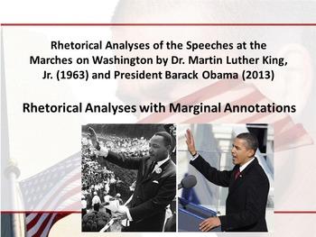 MLK and Obama's March on Washington Speeches - Rhetorical