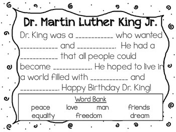 MLK fill in the blank story