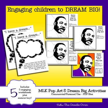 Martin Luther King (no prep) Math Activities