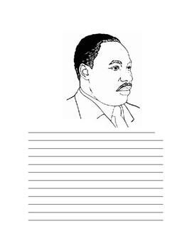 MLK writing template