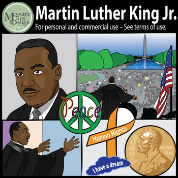 MLK-Martin Luther King Jr. & Civil Rights Clip Art {Messare Clips and Design}