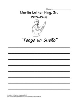 MLK/Martin Luther King Jr. Writing Prompt in SPANISH