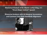 "MLK's ""Drum Major Instinct"" Speech Common Core Rhetorical Analysis w/Annotations"