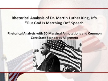 "MLK's ""Our God Is Marching On"" Speech Common Core Rhetorical Analysis"