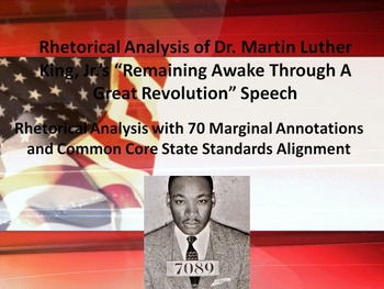 "MLK's ""Remaining Awake Through a Great Revolution"" Speech Rhetorical Analysis"