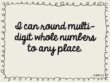 MLS Editable Fourth Grade I Can Math Statements