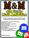 M&M 4th Grade Math Activities