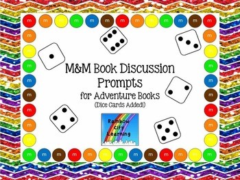 M&M Bookmarks with Discussion Prompts for Adventure Books