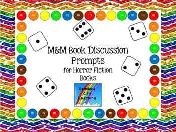 M&M Bookmarks with Discussion Prompts for Horror Books (Di