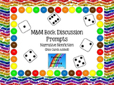 M&M Bookmarks with Discussion Prompts for Narrative Nonfiction