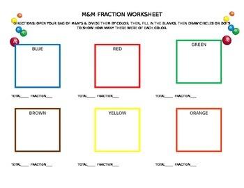 M&M Fraction Sheet