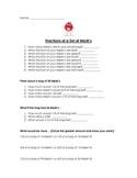 M&M Fractions Worksheet- CCSS