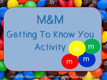 M&M Getting to Know You Activity