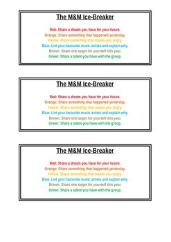 M&M Ice Breaker