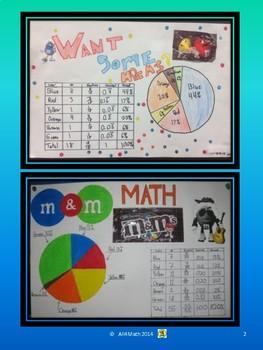 M&M Math: Fractions, Decimals, Percents, Graphs, & Data Analysis
