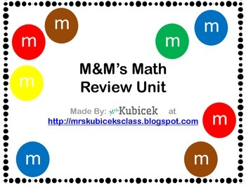 M&M Math Review Unit