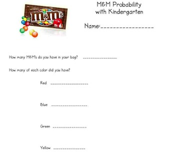 M&M Probability Worksheet