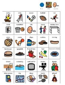 M&M get to know you activity for students with Autism