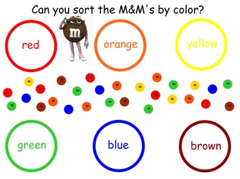 M&M sorting and graphing SmartNotebook file