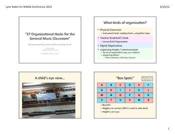 MMEA 37 Organizational Hacks ppt