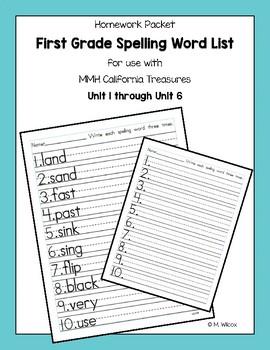 First grade spelling practice worksheets homework by melicety tpt first grade spelling practice worksheets homework ibookread Read Online
