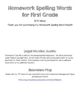 First Grade Spelling Practice Worksheets Homework
