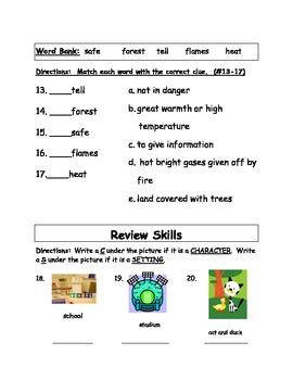 MMH Treasures - Unit 1, Week 3- Main Idea Test