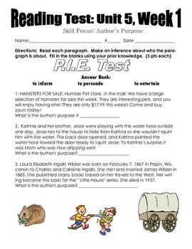 MMH Treasures- Unit 5 Weeks 1-5 Assessment Pack