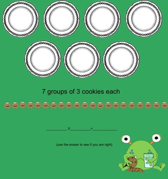 MMM...Cookies!-Multiplication Using Equal Groups-Interactive Smartboard Activity